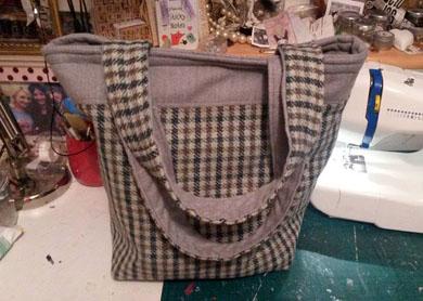 Tweed Tote Bag.