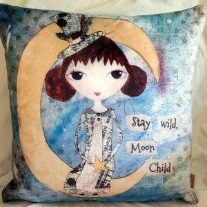 Polly Moon Velvet Cushion